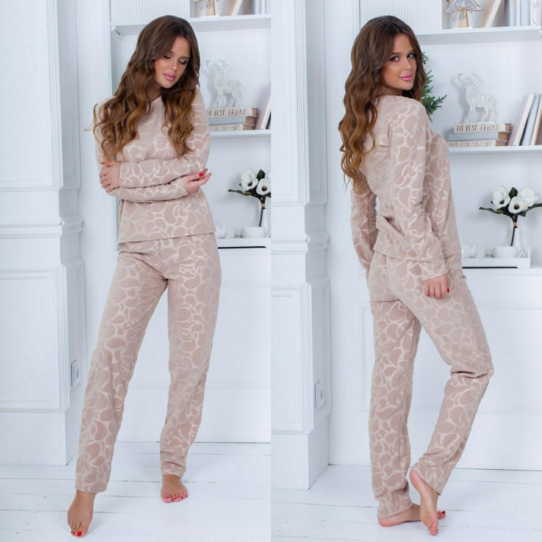 Пижама женская штаны +кофточка теплая мягкая