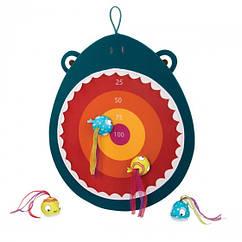 Развивающая игра - ГОЛОДНАЯ АКУЛА (1 мишень, 4 мячика-рыбки)