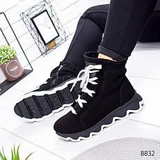 """Ботинки женские зимние, черного цвета из натуральной замши """"8832"""". Черевики жіночі. Ботинки теплые, фото 3"""