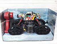 Джип на радиоуправлении на гусеницах для езды по снегу и грязи со сменными колесами 1:15 Climber + подарок
