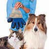 Перчатка для вычесывания животных True Touch Pet Brush Gloves, пуходерка, перчатка для сбора шерсти + подарок, фото 2