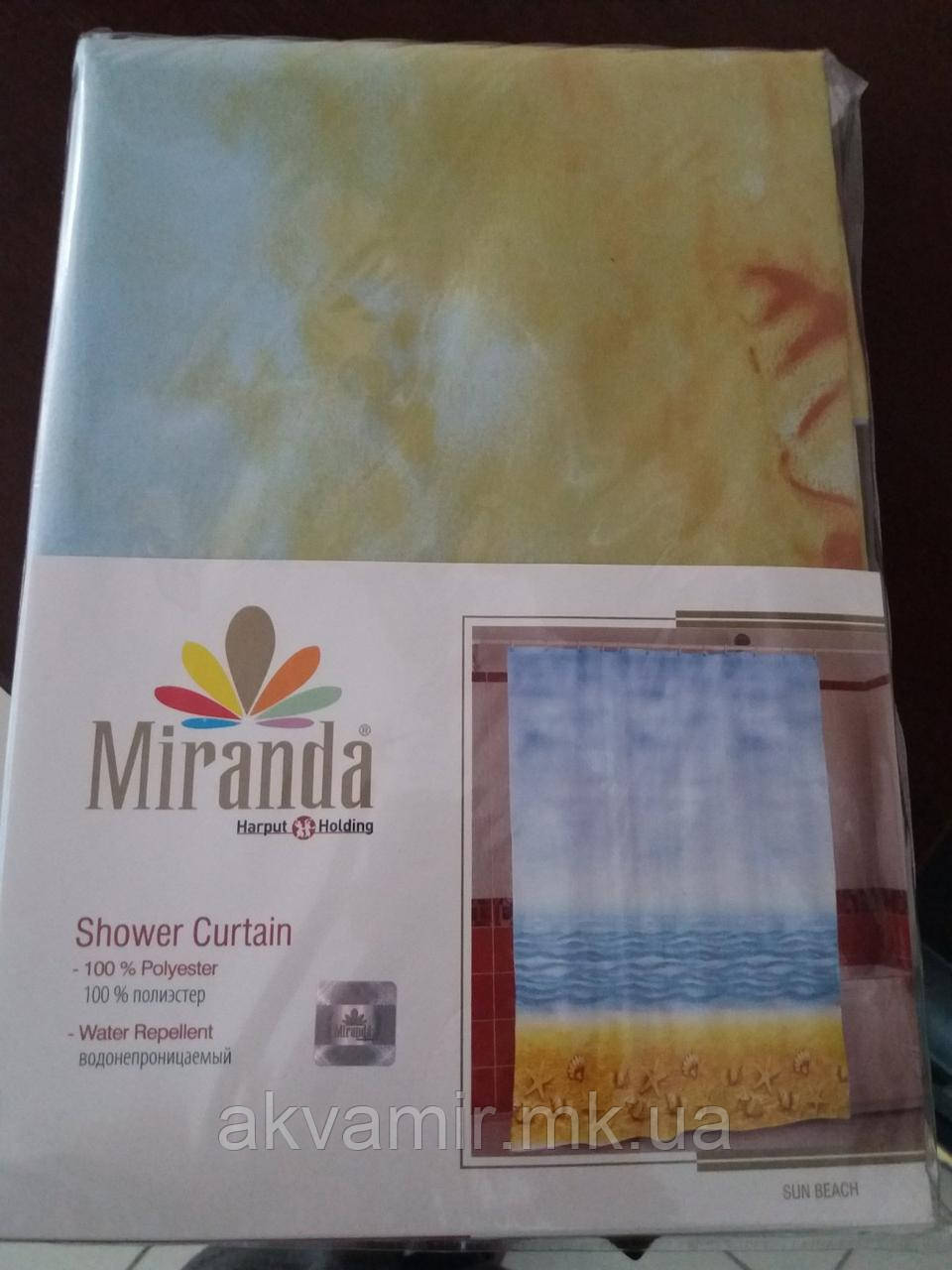 Штора в ванную Miranda Sun Beach (Турция) 180х200 см