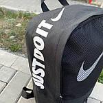 Стильный спортивный городской рюкзак Nike черный текстиль 25л., фото 5