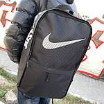 Стильный спортивный городской рюкзак Nike черный текстиль 25л., фото 4