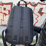 Стильный спортивный городской рюкзак Nike черный текстиль 25л., фото 3