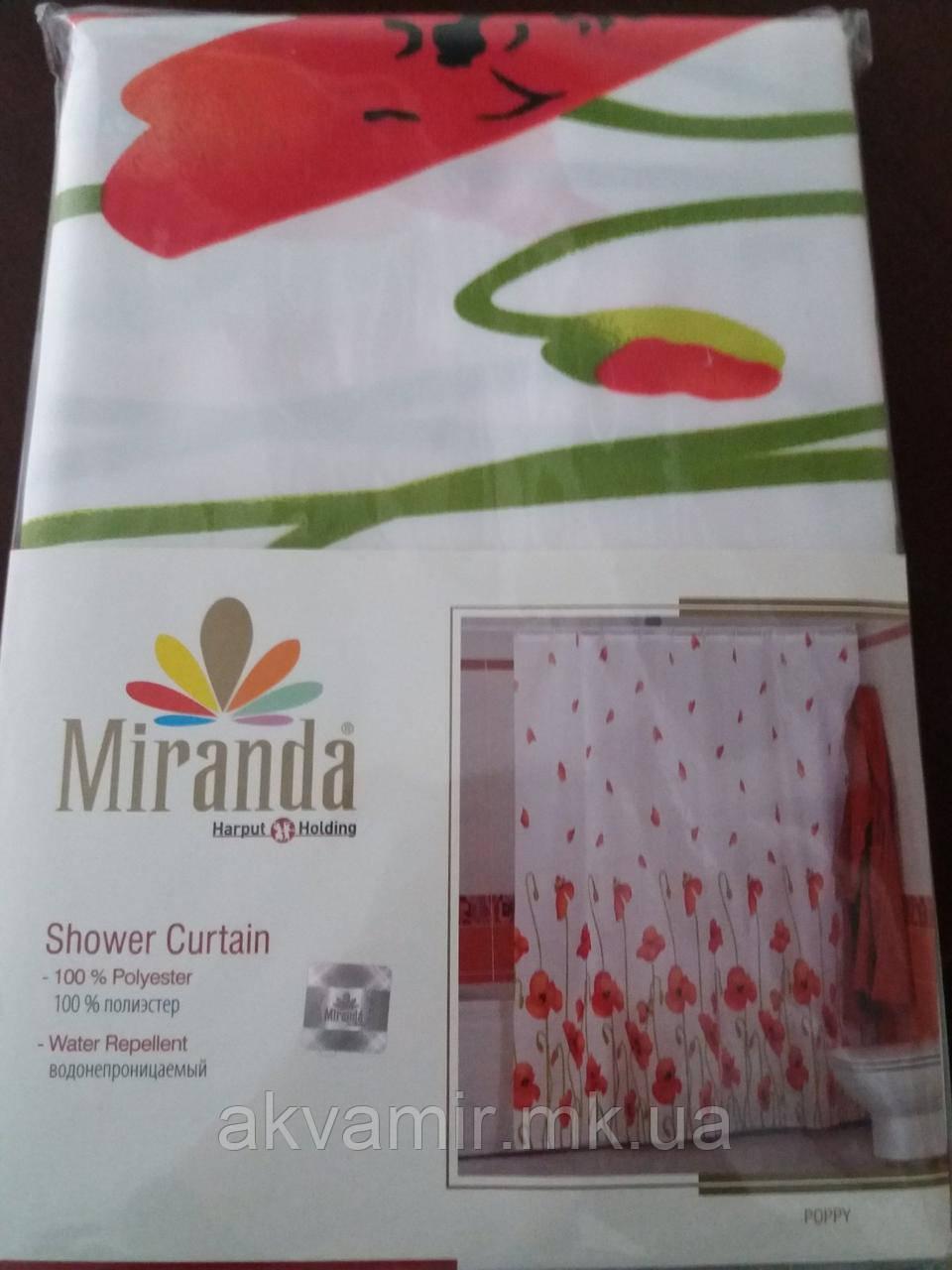 Штора в ванную Miranda Poppy (Турция) 180х200 см