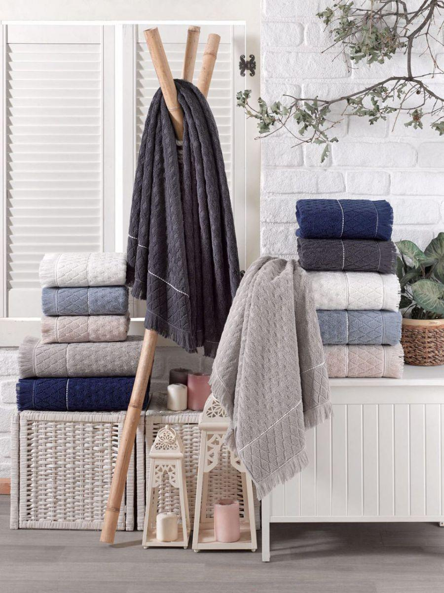Хлопковые полотенца с кисточками, Sikel Yakut 70х140 см. Турция