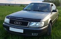 Дефлектор капота  Audi 100 1990-1994, Мухобойка Audi 100