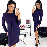 Однотонное женское платье из ангоры АА/-1298 - Фиолетовый, фото 1