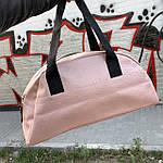 Жіноча спортивна сумка дорожня сумка зі штучної шкіри, фото 5