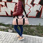 Жіноча спортивна сумка дорожня сумка зі штучної шкіри, фото 9