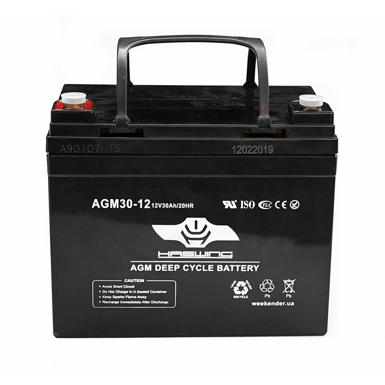AGM аккумулятор Haswing 30Ah 12V