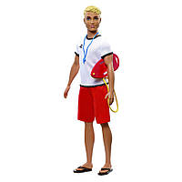 Кукла мальчик КЕН Спасатель Barbie You can be Ken Mattel FXP01/FXP04