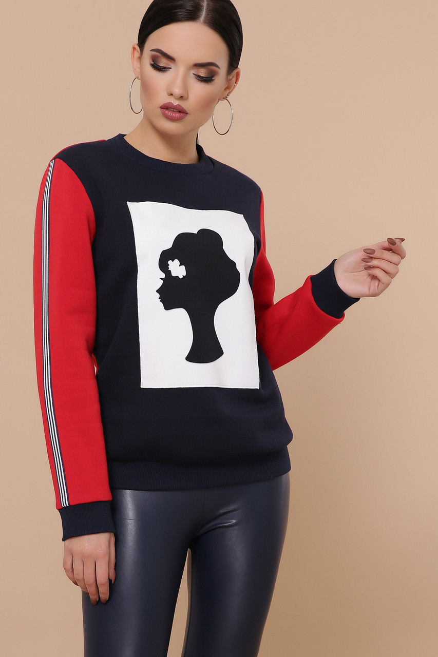 Яркий женский свитшот с принтом