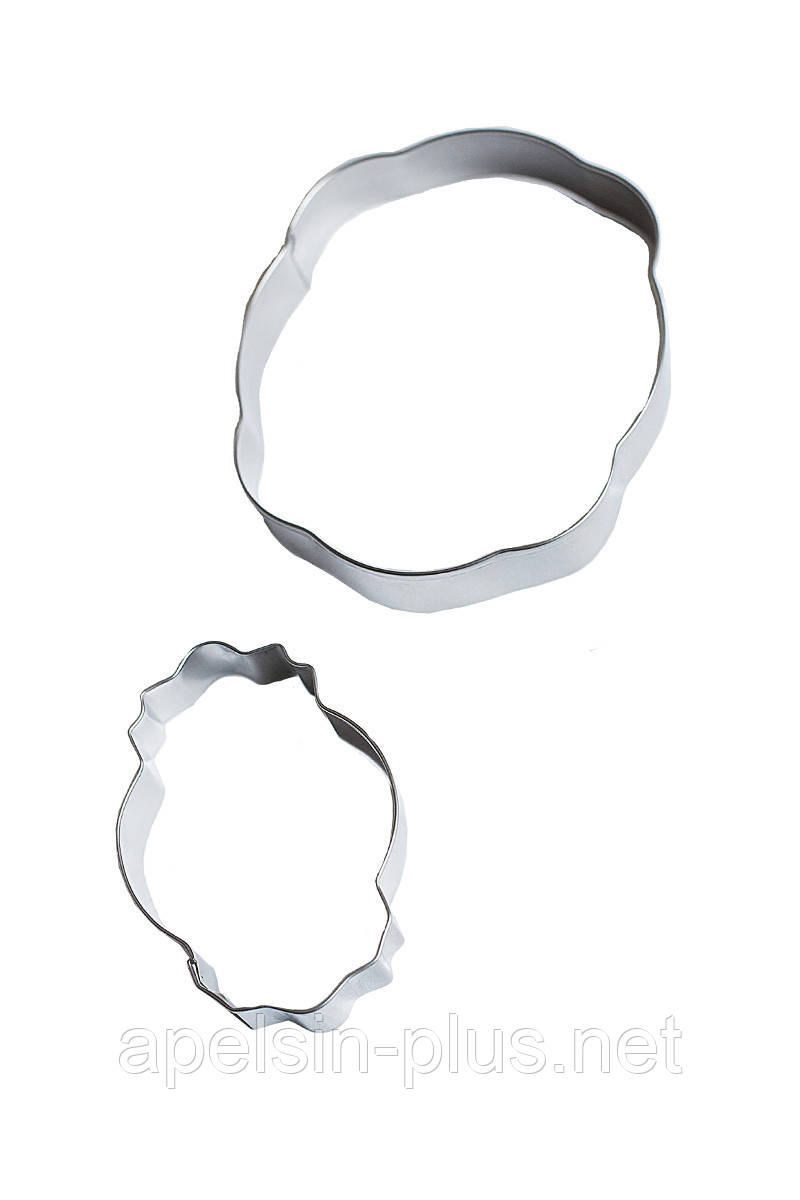 Вирубки для імбирних пряників Рамки Овальні набір з 2 штук метал