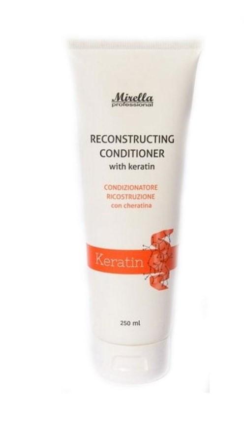 Восстанавливающий кондиционер с кератином Mirella Hair Care Reconstructing Conditioner, 250мл