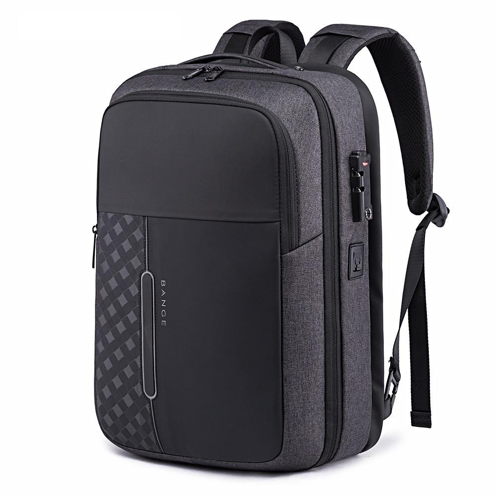 Деловой рюкзак-трансформер Bange BG-K85, с USB портом, с тремя отделениями, замком TSA, 25л
