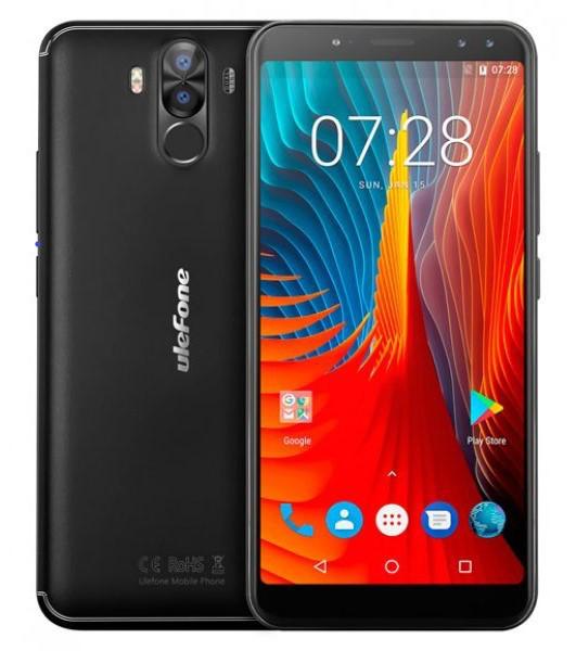 "Смартфон Ulefone Power 3S 4/64Gb Black, 16+5/13+5Мп, 6"" IPS, 6350мАч, Face ID, 2sim, MT6763, 8 ядер, 4G, GPS"