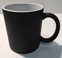 Чашка для сублимации Хамелеон, матовая (черный)
