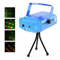 Диско Лазер с 4 изображениями XL-6G-D  Лазерный проектор со стробоскопом