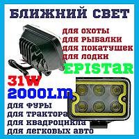 WL300 Светодиодные фары раб. света WL-306 32W EP6+COB SP SW Ближний свет Epistar