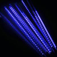 Гирлянда Падающая звезда 50 см, синий, 8 шт