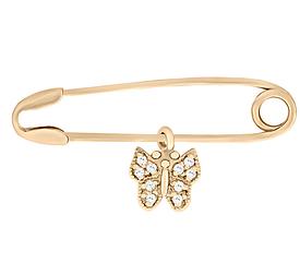 Золотая булавка Бабочка