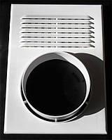 Решетка вентиляционная с фланцем под гофру 250 Х 180 Ø100 (Николаев)