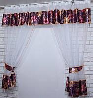 Кухонный комплект, шторы с подвязками