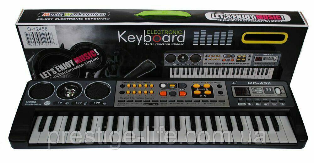 Детский обучающий синтезатор с микрофоном MQ-4911, 49 клавиш