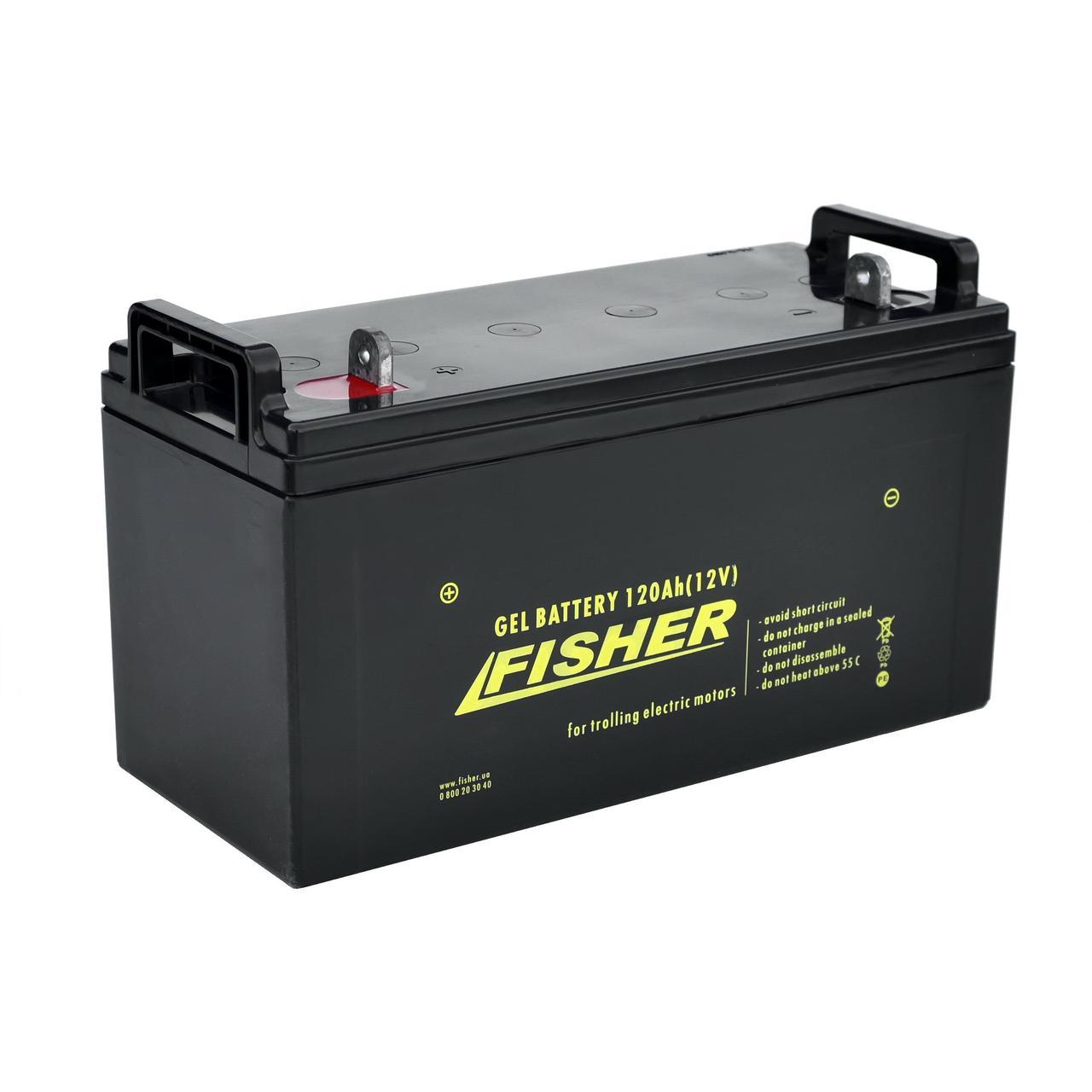 Гелевый аккумулятор 120Ah Fisher 12V