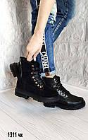 Зимние кожаные женские ботинки, фото 1