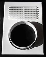 Решетка вентиляционная с фланцем под гофру 250 Х 180 Ø120 (Николаев)