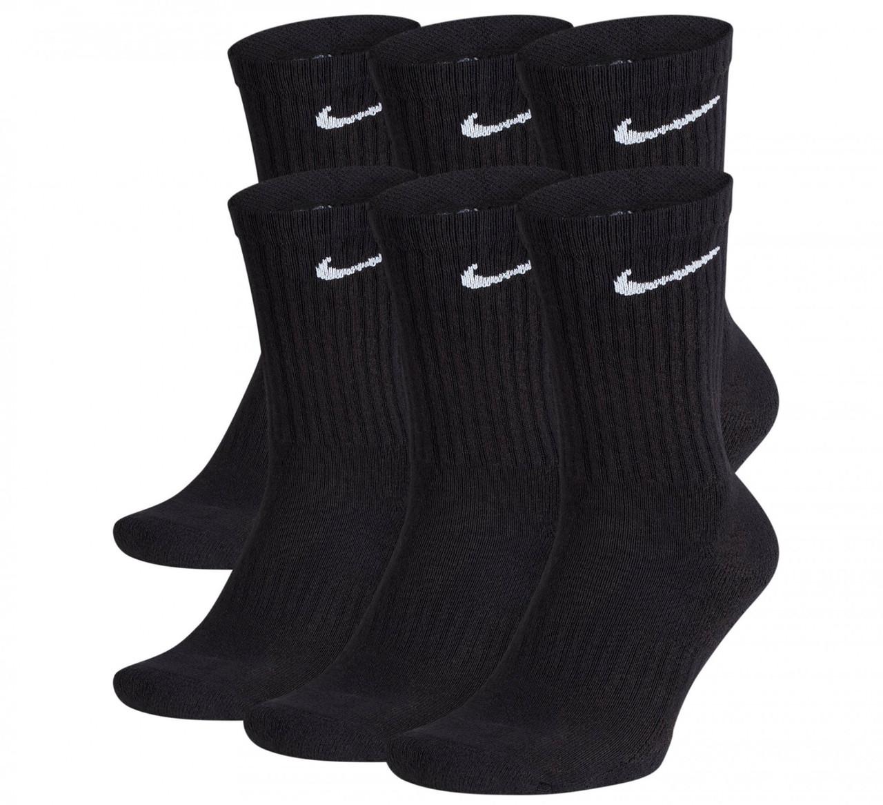 Носки Nike Everyday Cushion Crew SX7666-010 (Оригинал) 6 шт