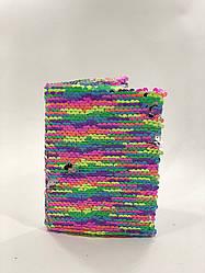 Блокнот в пайетках А6 15*10 см