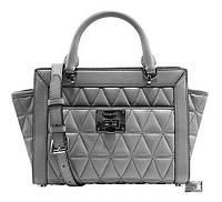 Женская сумка Michael Kors Small Messenger Crossbody Pearl Grey цвет Серый (BW-0382)