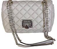 Женская сумка Michael Kors Bag Medium Quilted Pearl Grey цвет Серый (BW-0384)