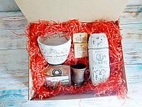 """Оригинальный подарочный набор для женщин """"Кофе в белом"""""""