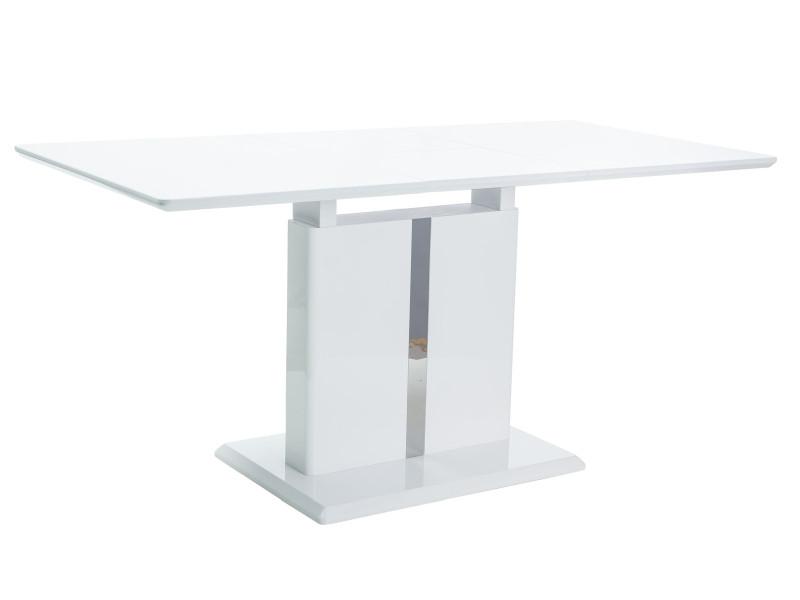 Стол раскладной DALLAS  BIAŁY LAKIER (110-150)X75