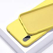Силиконовый чехол SLIM на Samsung A60 Yellow