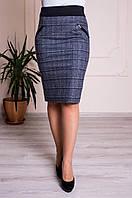Юбка женская теплая трикотажная ( 44,46,48,50,52,54,56,58 р-р ), фото 1