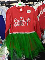 """Новогоднее платье для девочки """"Candy Girl"""""""