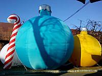 Надувной новогодний лиловый шар надувні новорічні 2м/Inflatable Christmas Shapes