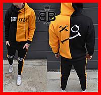 Спортивный костюм мужской с капюшоном утепленный, зимний X|O