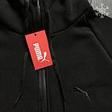 Мужское утепленное спортивное худи Puma (black), утепленное худи Пума, красное худи пума, фото 2