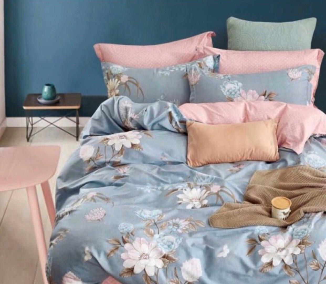 Семейный размер постельное белье бязь «Весенние цветы»