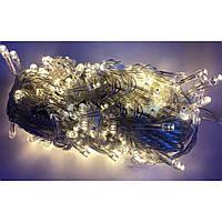 """Гирлянда электрическая """"String"""" 200 LED неон белый, прозрачный провод L-13,5 м (100) №K-21/1120-07"""