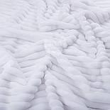 Плюш в полоску Stripes белого цвета с оттенком айвори, фото 2