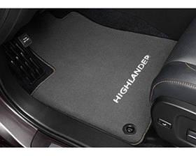 Коврики в салон Toyota Highlander 2013- антрацит, ворсовые 830 г/м, кт 3шт PZ49C-20350-BA