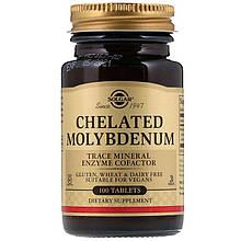 "Хелатный молибден, SOLGAR ""Chelated Molybdenum"" (100 таблеток)"